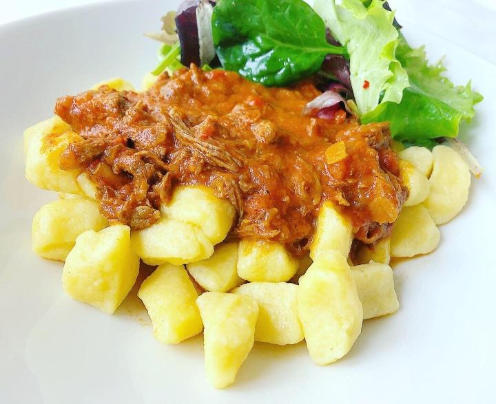 Gnocchi mit Rinderragout (PulledBeef)